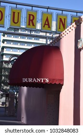 Front of Durant's Steakhouse on Central Avenue in Phoenix Arizona 2/24/18