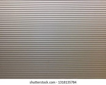 Front elevation of a closed fire-rated roller shutter door
