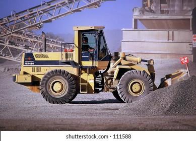 Front End Loader in Quarry