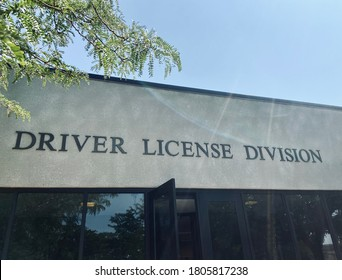 Front entrance of driver license division of the DMV