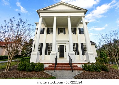 The front exterior of a colonial house