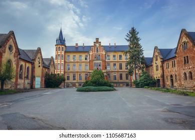 Front facade of Castle in Bzenec, South Moravian Region of Czech Republic