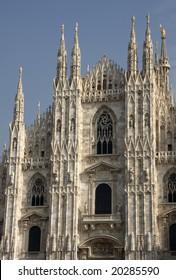 Front facade of the Duomo, Milan, Italy