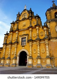 The front facade of the Iglesia la Recolecci���³n  (Church of the Recoleccion),Leon, Nicaragua.