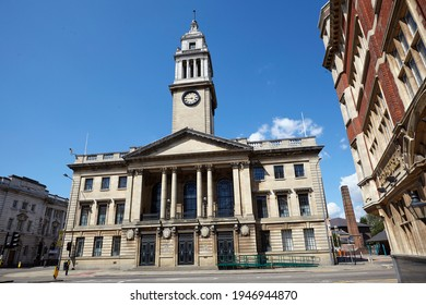 Front facade of low gate frontage of the grade 2 listed 'Guildhall' in Kingston Upon Hull, architect Sir Edwin Cooper