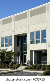 Front Facade of New Commercial Office Building