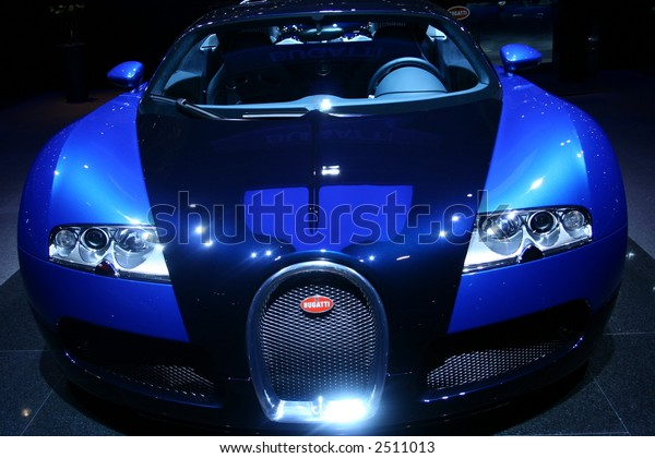 Front of a famous sports car