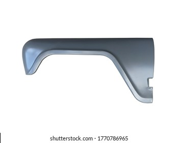 Front fender of the car on an isolated white background. New spare parts.