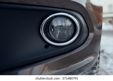 front fog lamp car closeup