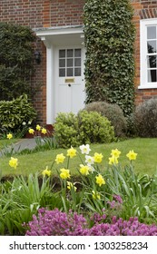 Front garden of a heritage home in Pinner, London in spring
