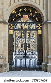 Front gate to the All Souls College, Oxford, UK