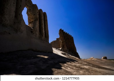 Front Gate of Great Kyz Qala or 'Kiz Kala' (Maiden's Castle) the Historical Site in Ancient Merv, Southeastern of Turkmenistan.