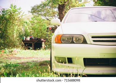 Front of the Japanese car. Japanese car Toyota Chaser.