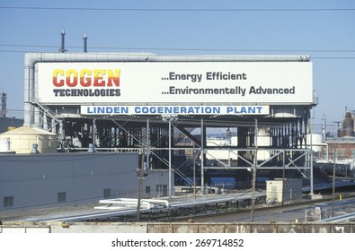 The front of the Linden Cogeneration Plant in Linden, NJ