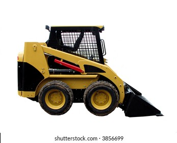 Front loader isolated on a white background