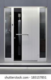 Front of Massive Aluminum Door