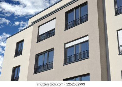 Front of a modern residential Building
