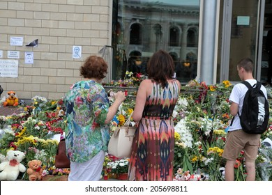 in front of the Netherlands Embassy in Kiev 18.07.2014
