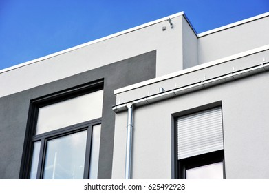 Front of a new modern Building with Windows