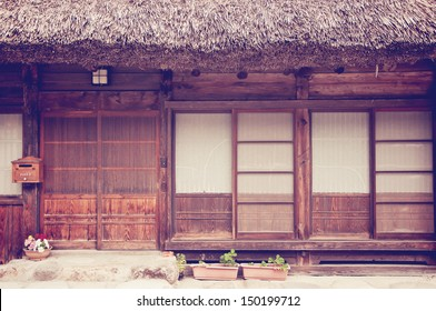 front of old japanese house