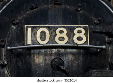 front of a old steam train