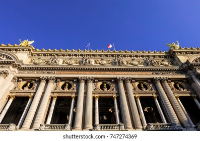 The front of Palais Garnier (Opera Paris)
