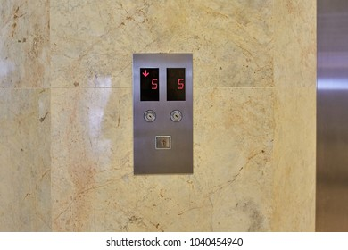 Front panel of lift or elevator