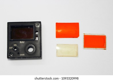 Front panel of NAV control unit and structure of light filter.