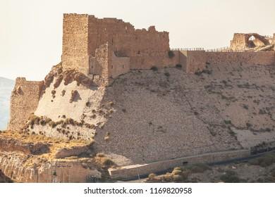 Front part  of crusader castle Kerak  (Al Karak), Jordan