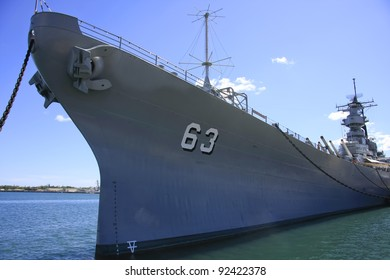 Front part of the decommissioned USS Missouri