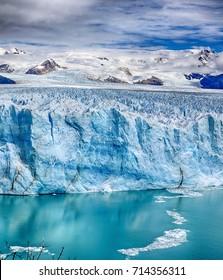 Front of Perito Moreno Glacier at Los Glaciares National Park N.P. (Argentina) - HDR panorama