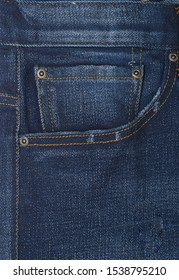 front pocket.with blue Jeans texture background