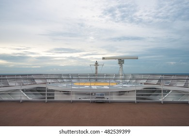 front point of a cruise ship