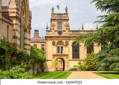 Front Quadrangle in Trinity College. Oxford University, Oxford,  England