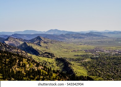 Front Range and the Flatirons near Boulder, Colorado
