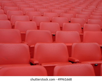 Front of red Seats at Wembley