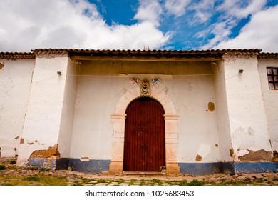 In front of a rural church in Ayacucho - Peru