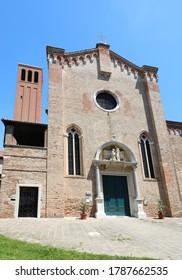 Front of Saint ELENA Church in Venice Island in Italy