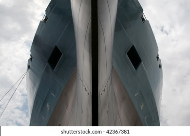 front of a ship