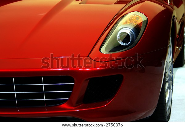 Front Side of a Famous Sports Car.