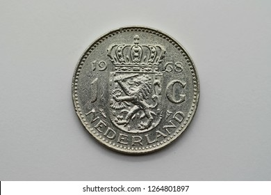 Front side of a former 1 guilder coin from Holland