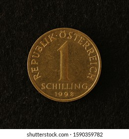 Front side of a former Austrian 1 shilling coin