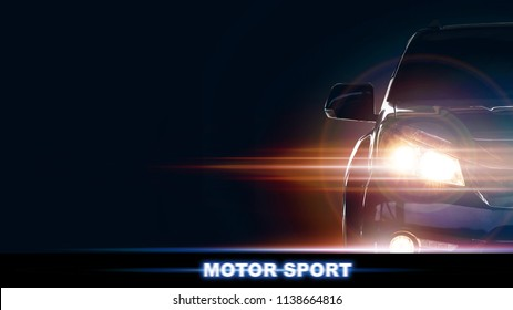 Front of a sports car with your space