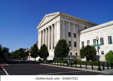 Front of the United States Supreme Court Building in Washington, D.C.
