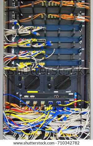 Front UTP LAN Cable Fiber Optic Stock Photo (Edit Now) 710342782 ...