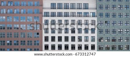 Front View Building Facades Architecture Exterior Stock Photo (Edit