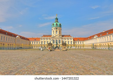 Front view of Charlottenburg Palace (Schloss Charlottenburg), Berlin, Germany (Deutschland);  The palace was built at the end of the 17th century and was greatly expanded during the 18th century.