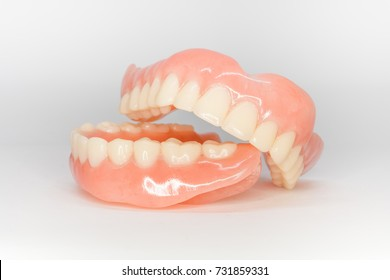 front view of complete denture