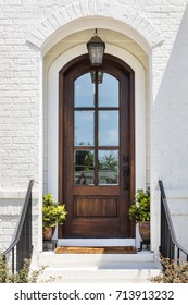 Front view of a front door