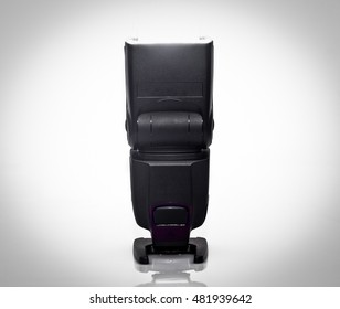 front view of flash-light over white background